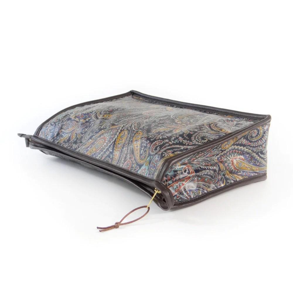 MEN'S WASH BAG FELIX GREY - AUBREY CROFT
