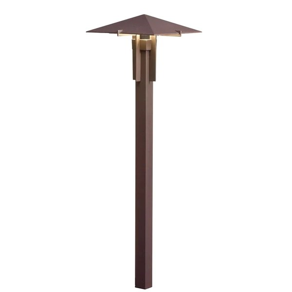 kichler 15803azt27r led 2700k mission forged path light textured architectural bronze