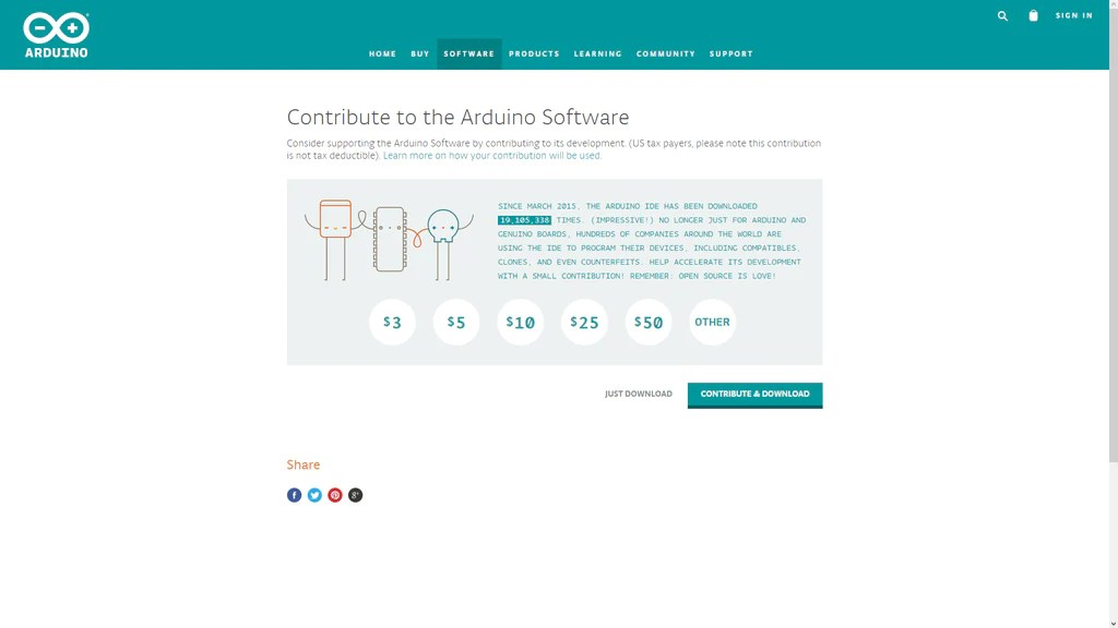 Page donation Arduino
