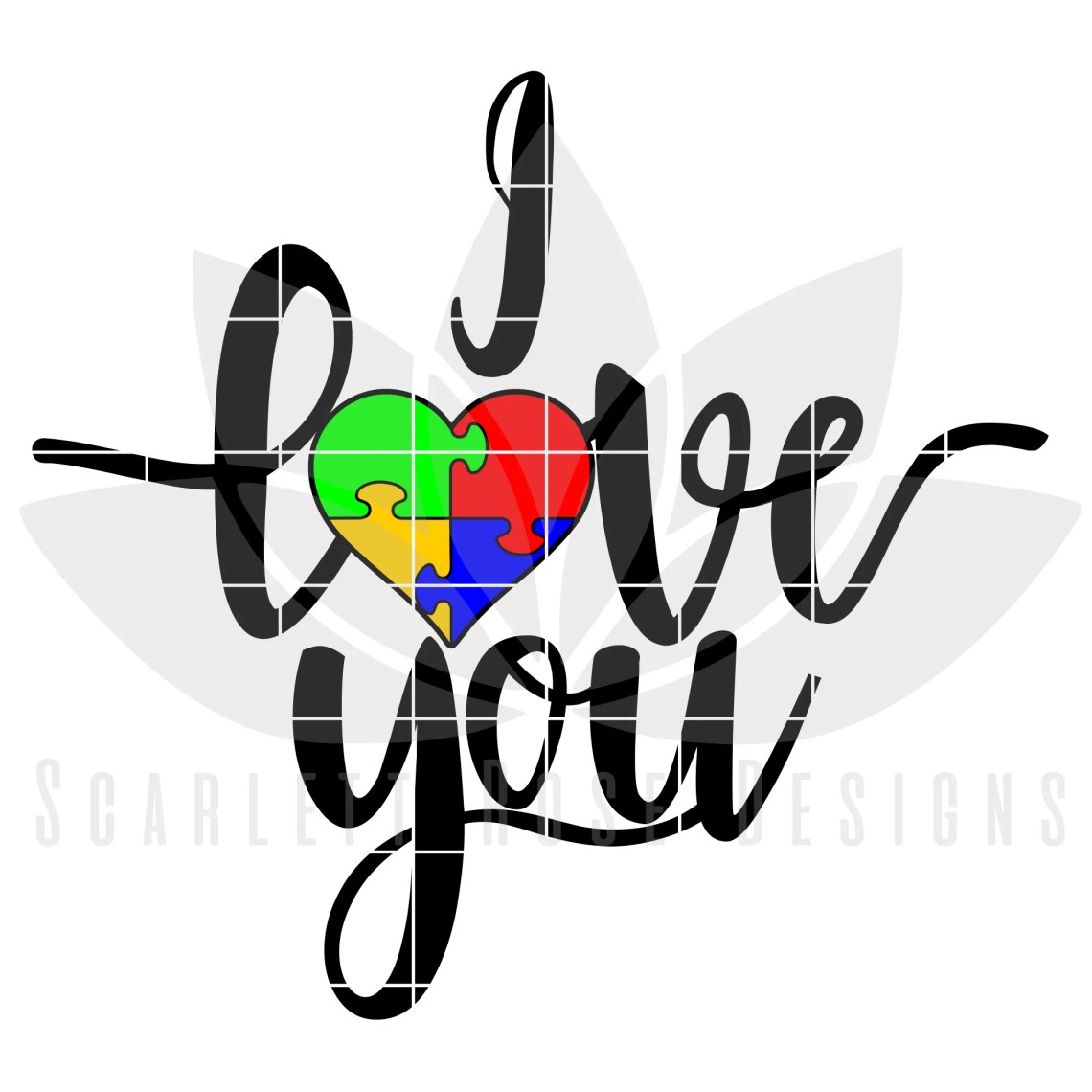 Download I Love You, Autism Mom, Dad, Autism SVG - Scarlett Rose ...