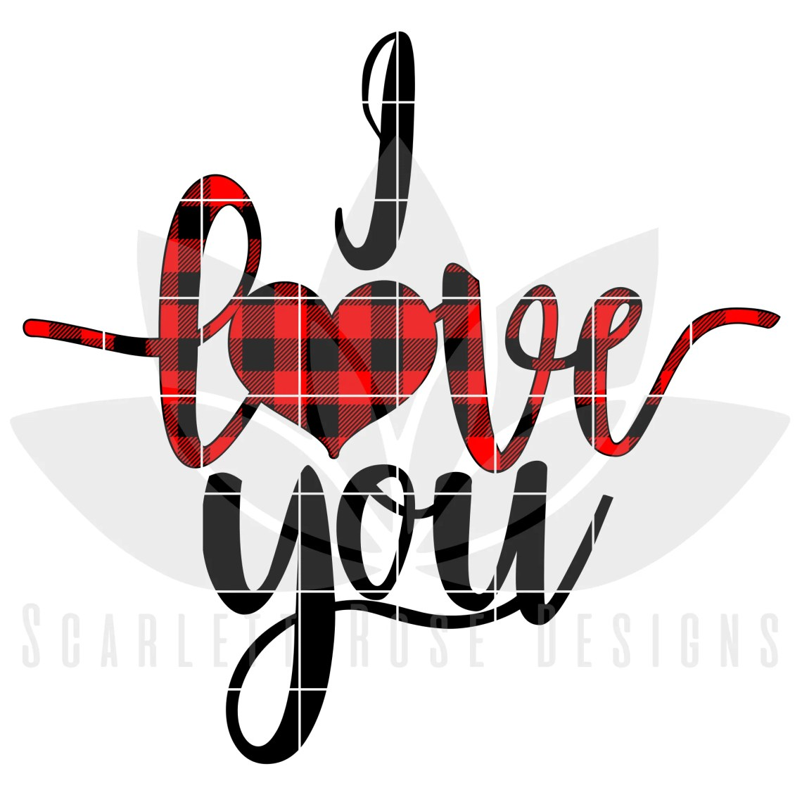 Download Valentine's Day SVG, DXF, I Love You, Buffalo Plaid ...