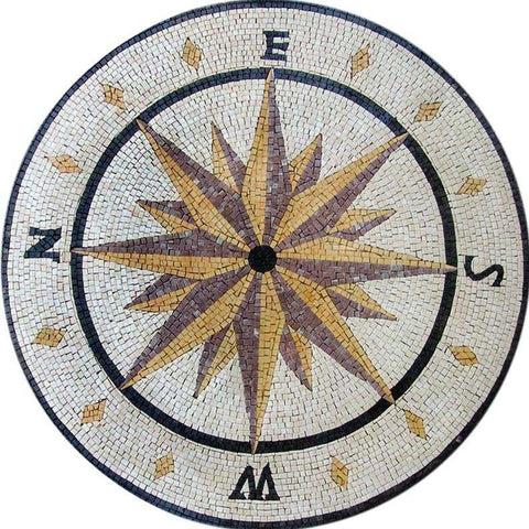 compass mosaic mosaic designs mozaico