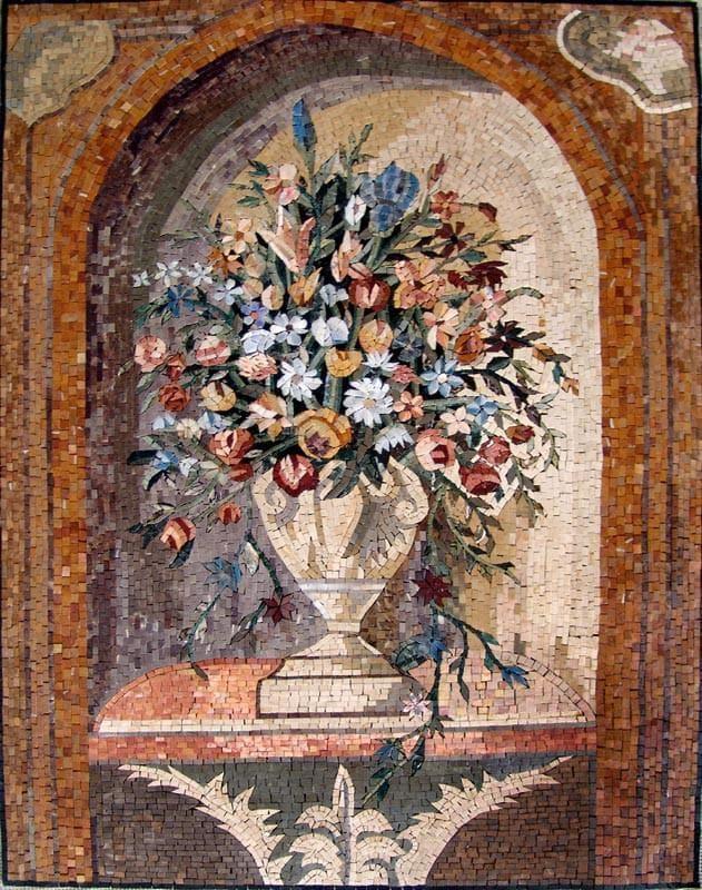 mosaic wall art imaginative vase