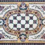 Rectangular Rug Marble Mosaic Floor Decor Rugs Mozaico