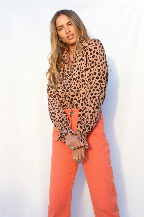 Brown Leopard Sia Shirt Never Fully Dressed