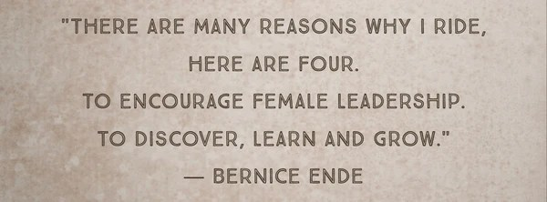 Quote by Montana Novelist Bernice Ende, author of Lady Long Rider on 5 Best Montana Writer's at the Montana Gift Corral