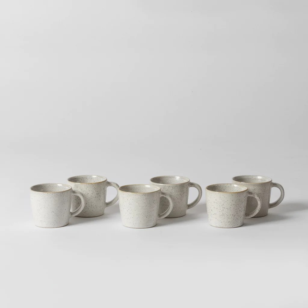 zeta espresso cup set specked white