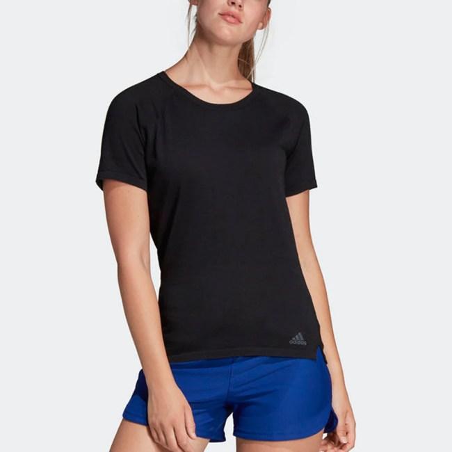 adidas Cru Tee Primeknit Women's Running Apparel Black