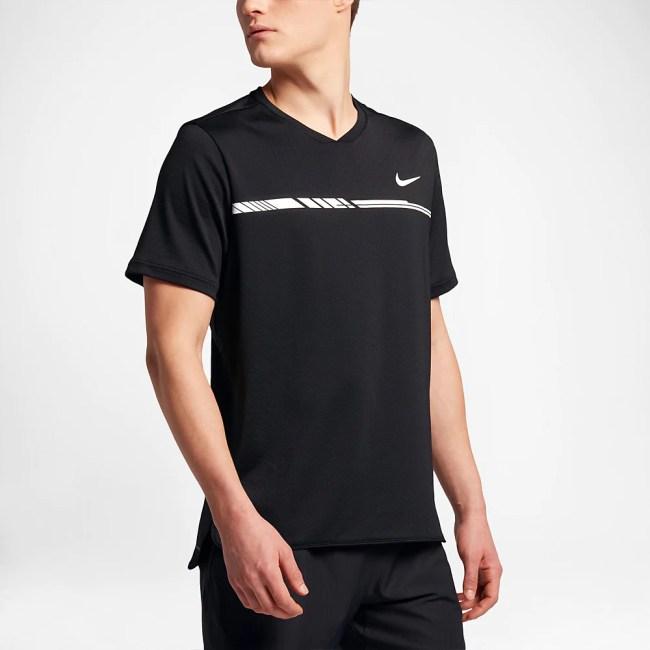 Nike Dry Challenger Top Men's Tennis Apparel Black/White