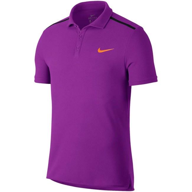 Nike Advantage Classic Polo Men's Tennis Apparel Summer 2017 Vivid Purple/Black/Tart