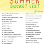 45 Fun Ideas For Kids Summer Bucket List Big Life Journal