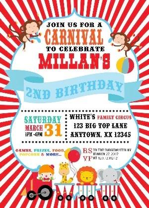 carnival party invitation
