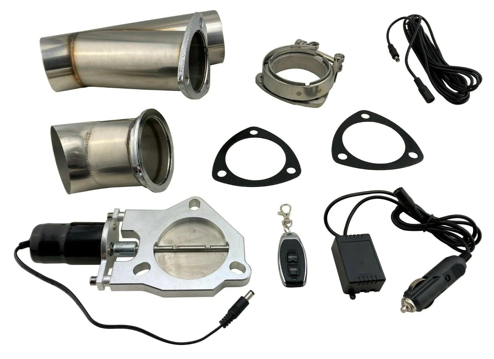 3 hiflow electric exhaust muffler valve cutout system dump wireless remote fob