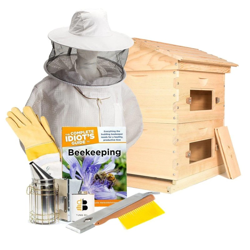 Deep hive starter kit including the beekeeping parts list