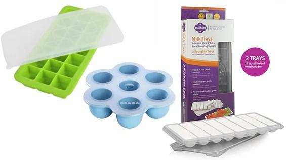breast milk storage trays