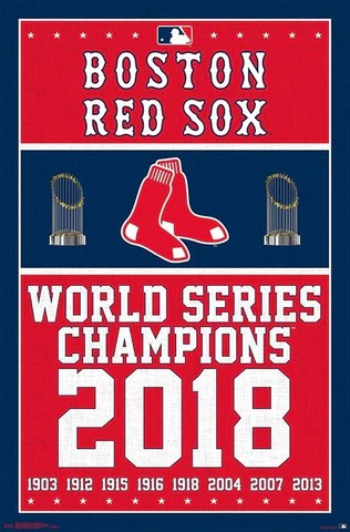 boston red sox 9 time world series champs commemorative poster trends int l