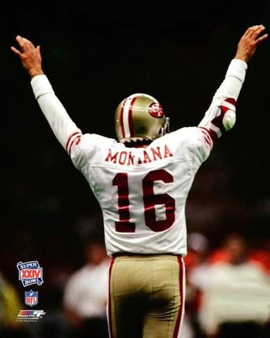 joe montana glory super bowl xxiv 1990 san francisco 49ers premium poster print photofile inc