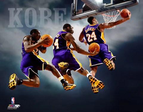 kobe bryant triple exposure los angeles lakers slam dunk premium poster print photofile 16x20