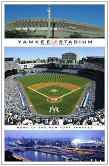 new york yankees old yankee stadium tribute commemorative wall poster costacos 2005