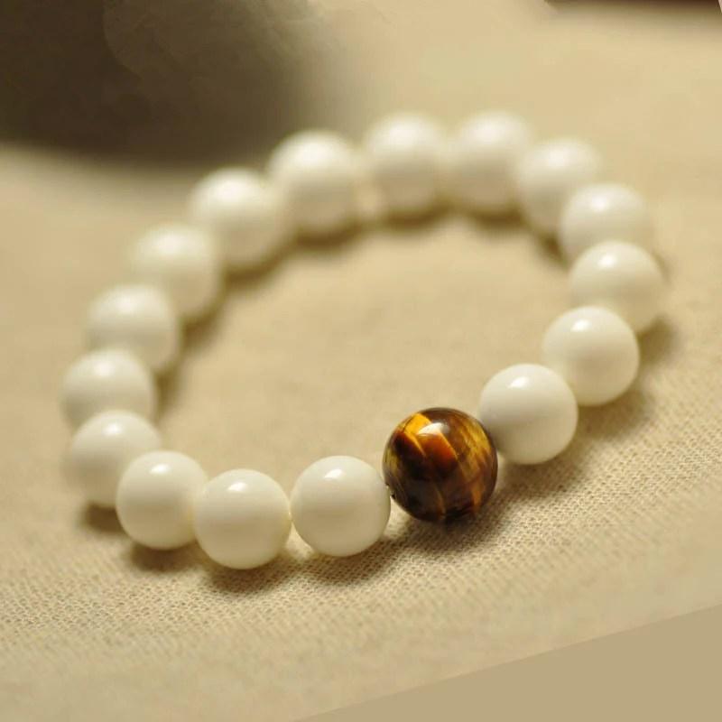 Natural Pure White Tridacna Bracelet Myth Of Eastern
