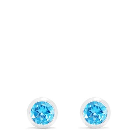 Effy Ocean Bleu 14K White Gold Blue Topaz Stud Earrings, 1.10 TCW