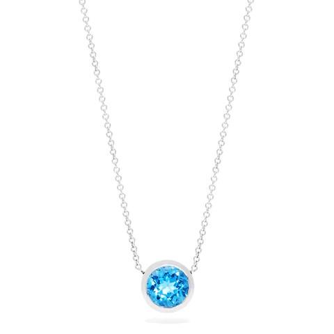 Effy Ocean Bleu 14K White Gold Blue Topaz Pendant, 0.95 TCW