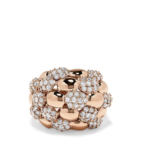 Effy 14K Rose Gold Diamond Dome Ring, 2.54 TCW