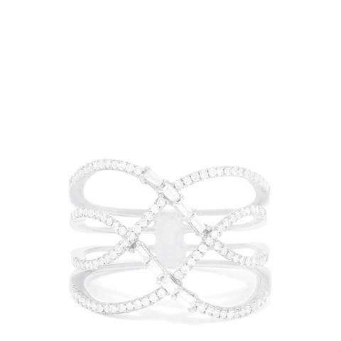 Effy Pave Classica 14K White Gold Diamond Fashion Ring, 0.42 TCW