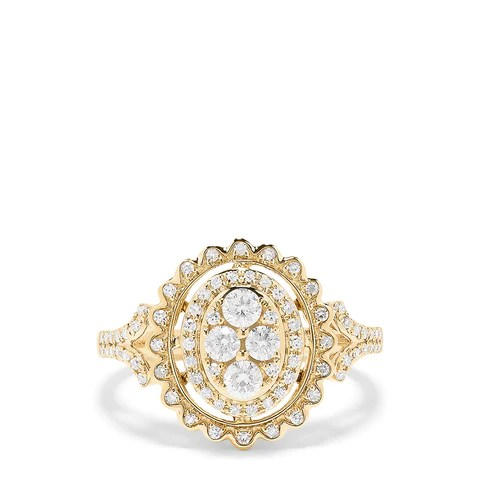 Effy D'oro 14K Yellow Gold Diamond Ring, 0.70 TCW