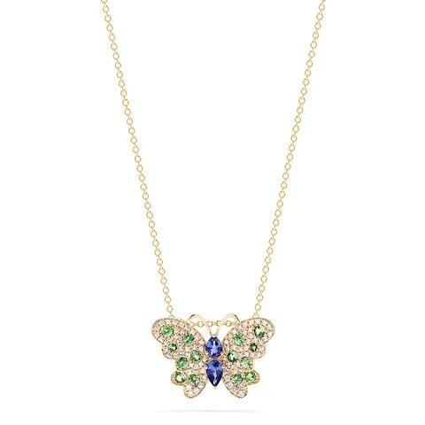 Effy Nature Sapphire, Tsavorite and Diamond Butterfly Pendant, 1.27 TCW