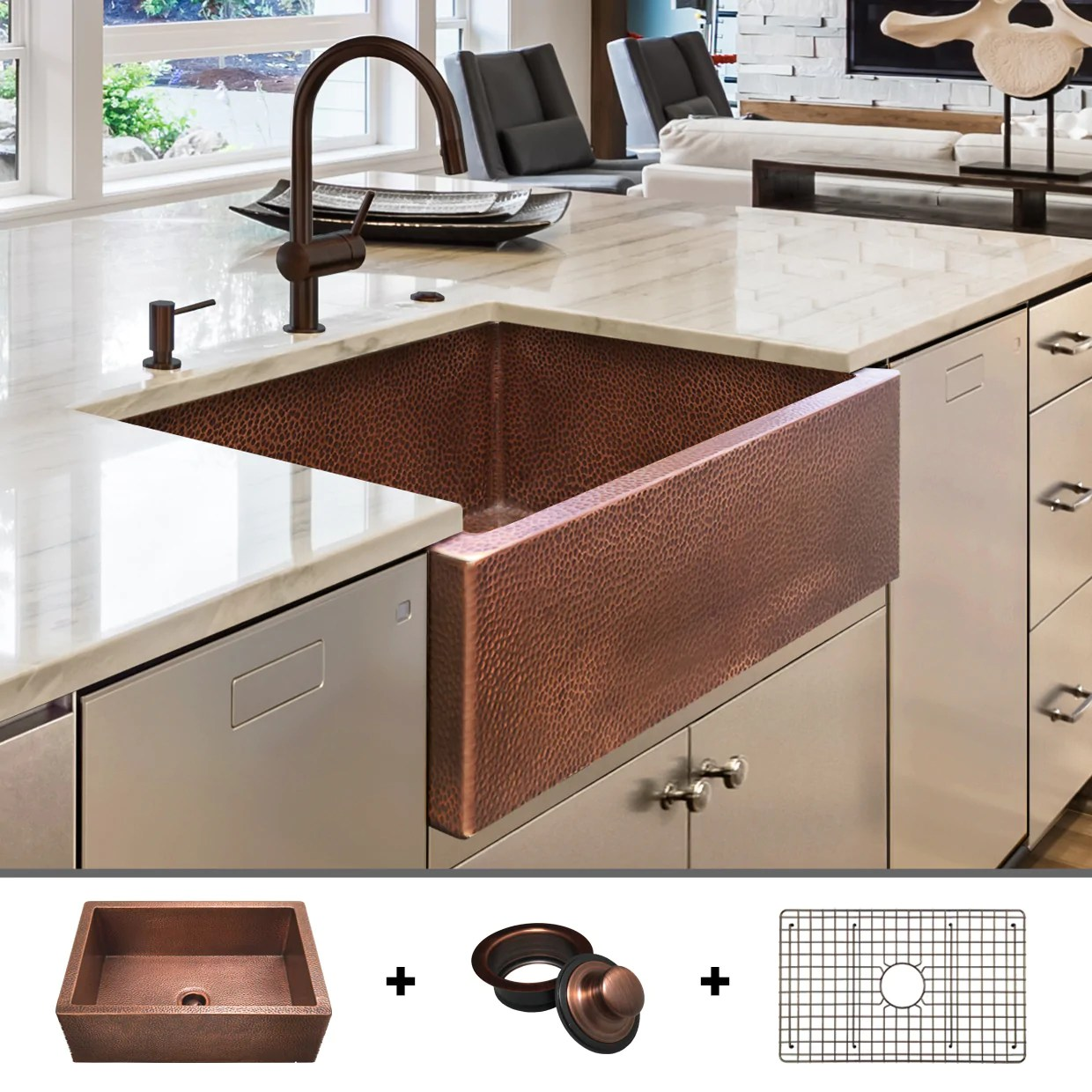 luxury fireclay and copper farmhouse sinks