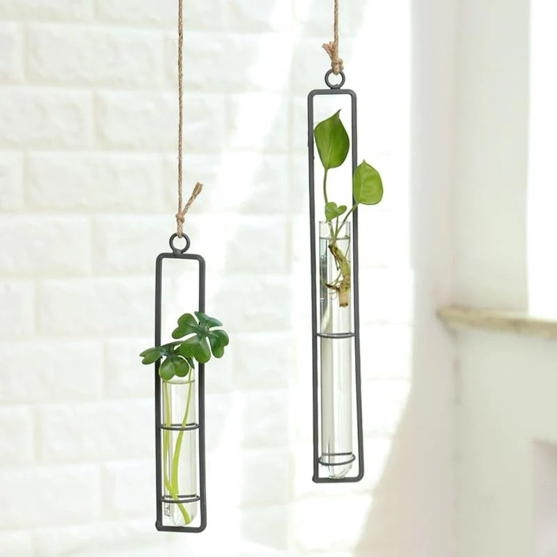 Minimal Iron Plant Wall Hanging Vases and Wall Planters ... on Iron Wall Vases id=92787