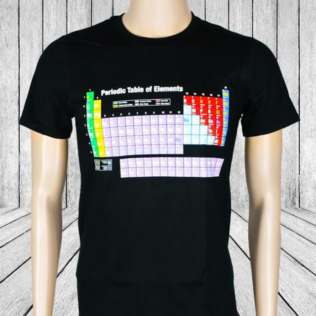 Periodic table of elements t shirt periodic diagrams science periodic table of elements t shirt element tee shirts science urtaz Choice Image