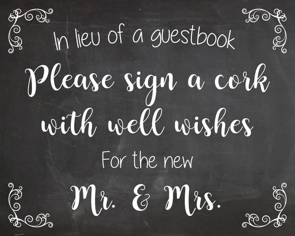Sign A Cork Sign Wedding Guest Book PRINTABLE