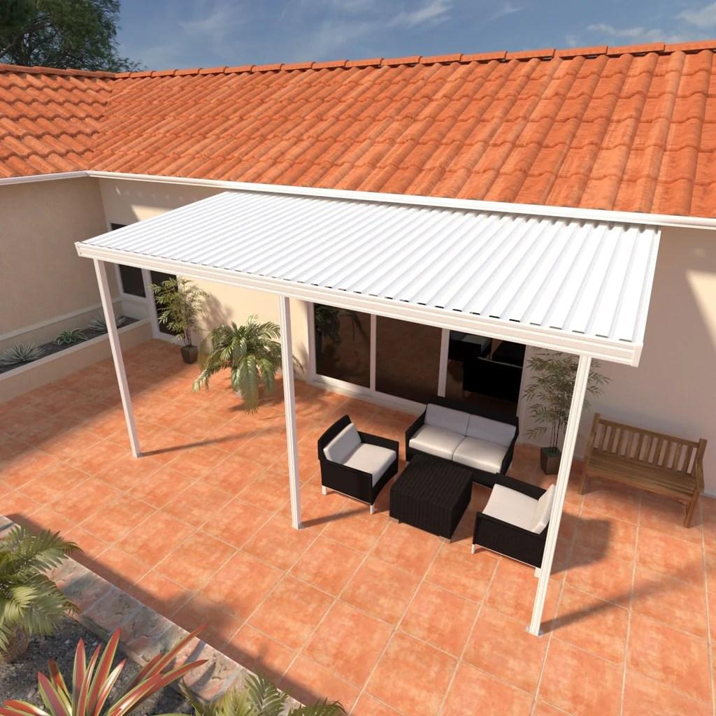 attached aluminum patio cover