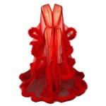 Hollywood Glam Sheer Fluffy Floor Length Feather Robe Goddess Of Luxury