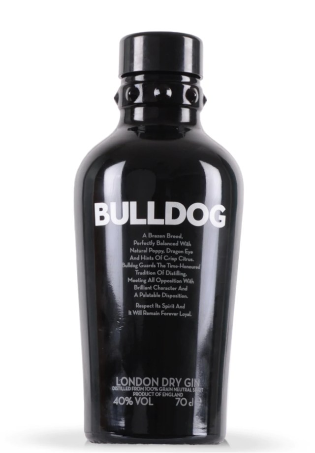 bulldog london dry gin 70cl – homedeliverywine