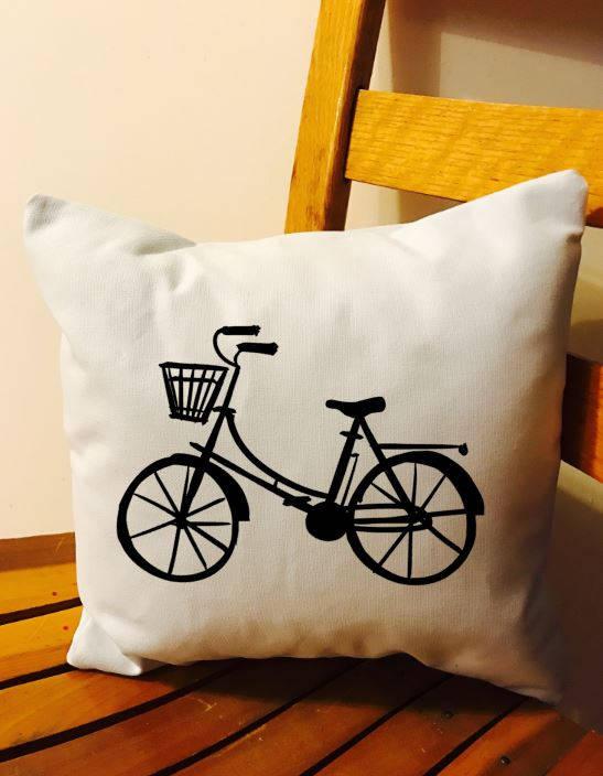 bicycle throw pillow bike cushion bicycle decor the nerdy birds