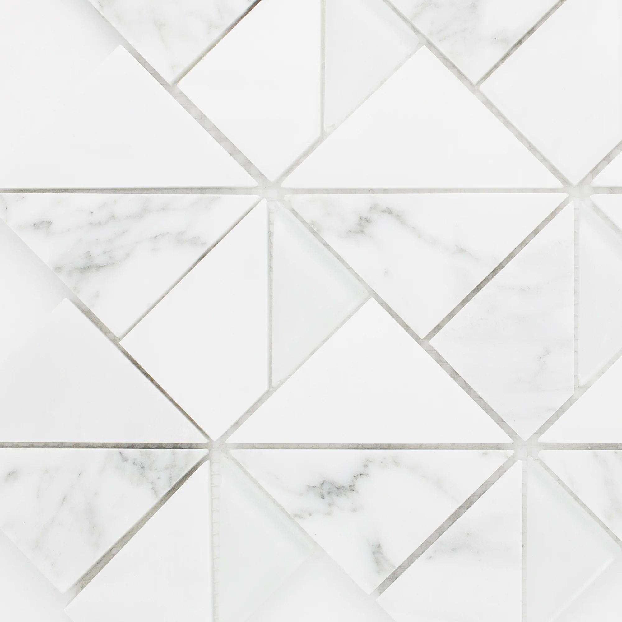 tmopg 01 triangle square white carrara