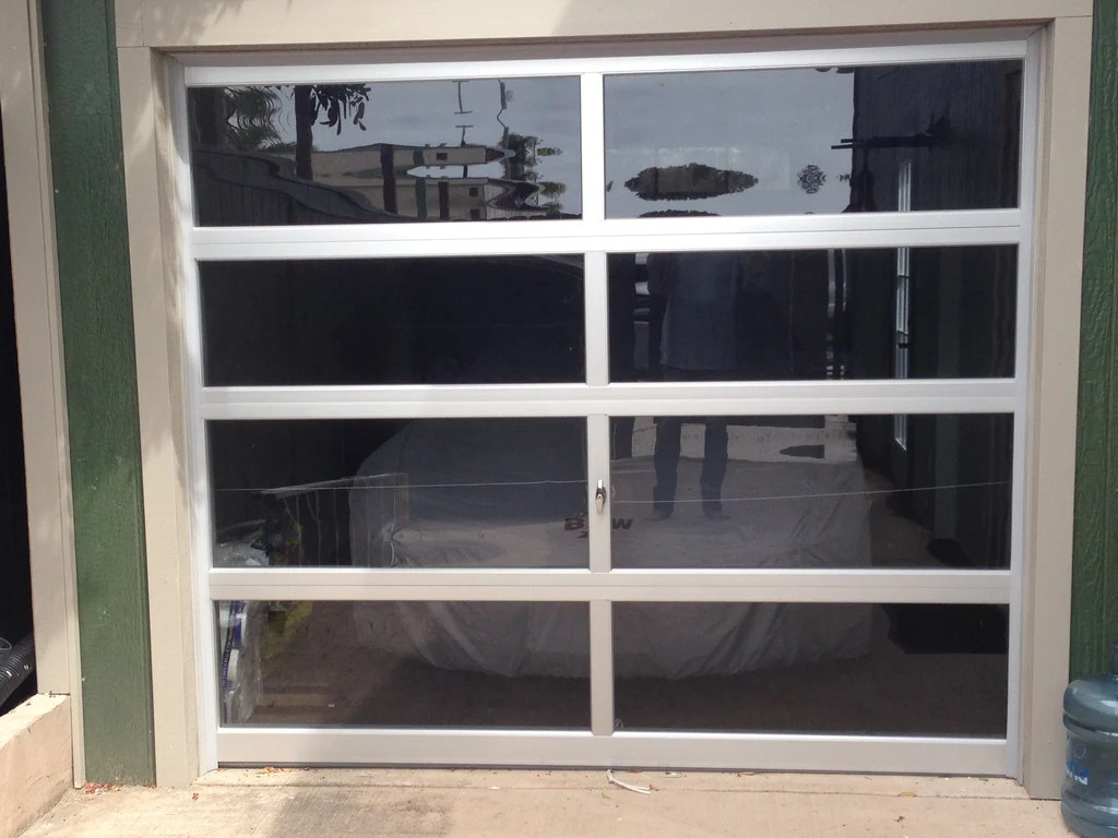 Contemporary Aluminum Amp Gray Tinted See Through Glass