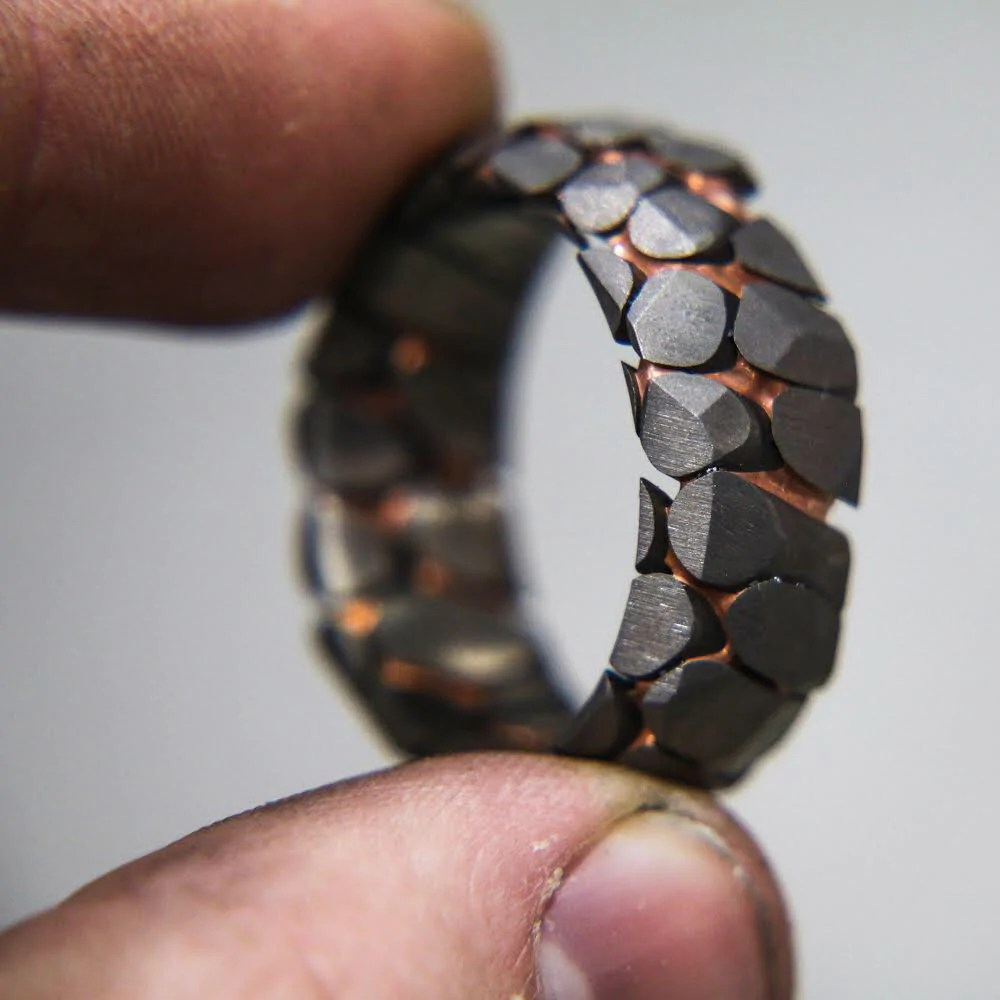 Obsidian Superconductor Ring Unique Rings Patrick