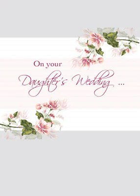 52030 Daughters Wedding Congratulations Pink Flowers Sandra Rose Designs