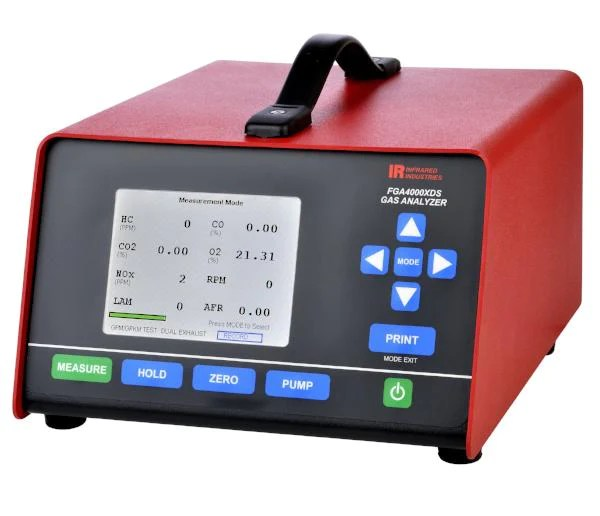 infrared industries fga4500xds exhaust gas analyzer lcd display the carlson company