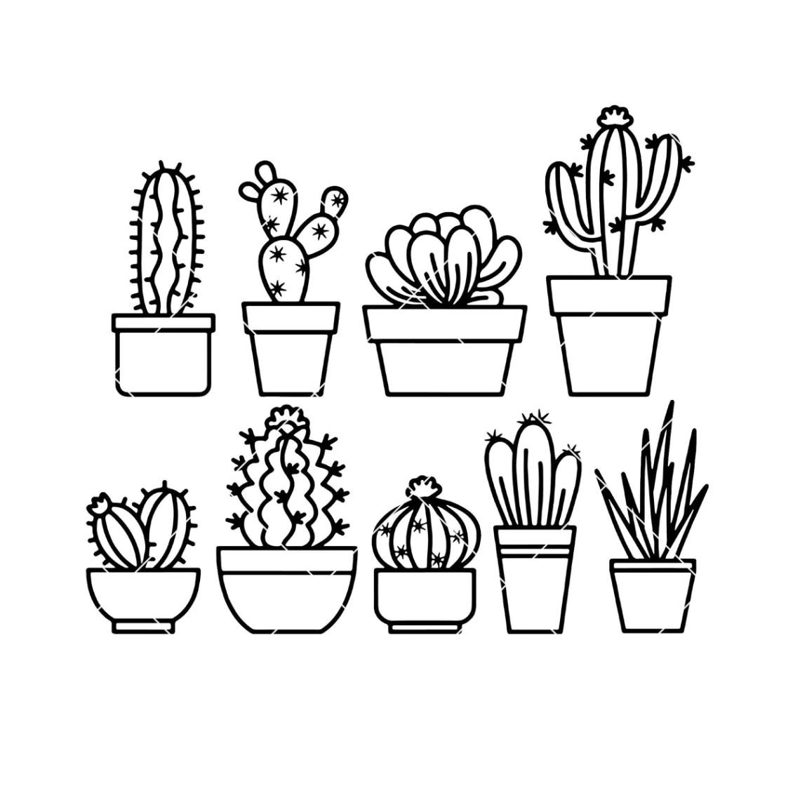 Download Cactus-Succulent Digital Cut Files Svg, Dxf, Eps, Png ...
