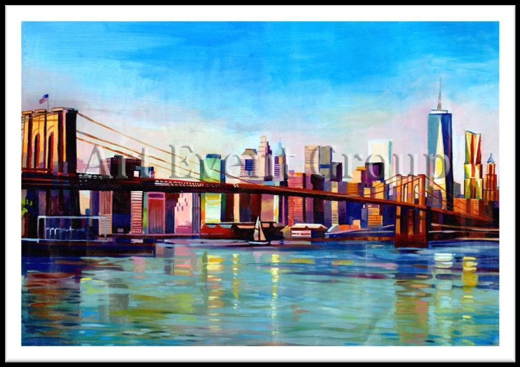 BROOKLYN BRIDGE in NYC Original Art at www all art4sale us  470 00