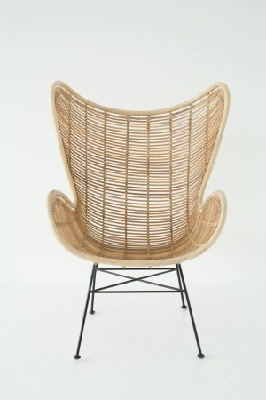 laid back rattan chair     Nest laid back rattan chair