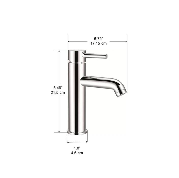 argenta single lever bathroom faucet