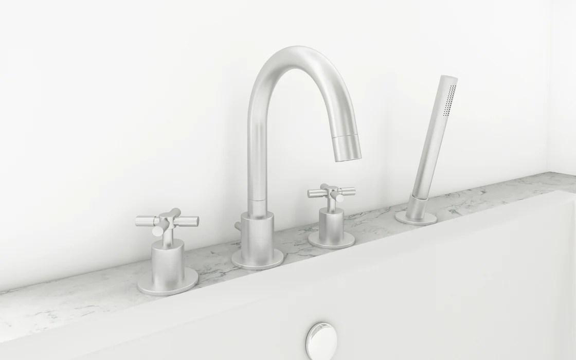 prima 4 colori series brushed nickel bathroom tub faucet
