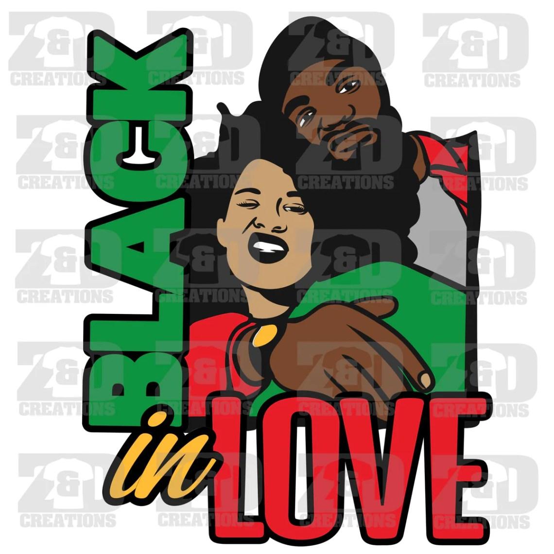 Download Black in Love SVG - ZDCreations