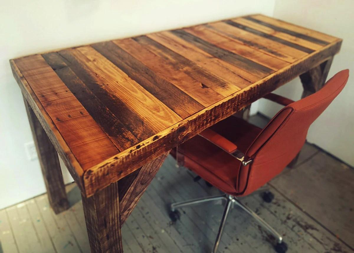 how to make a pallet desk fringe focus